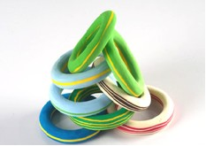 Bangle Bracelets made from recycled flip flops